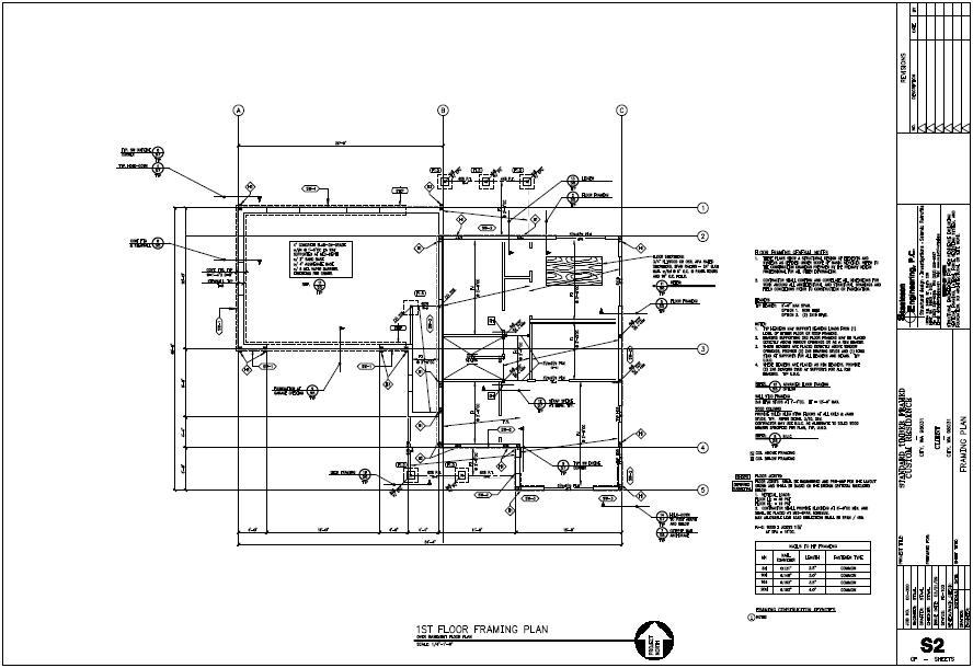 residential roof framing plan